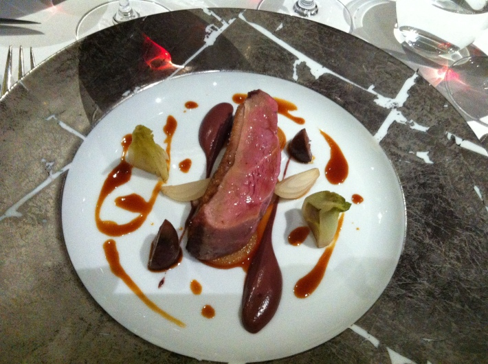 Duck breast, black pudding sauce